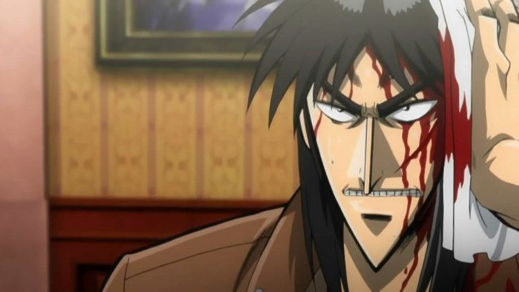 Kaiji (manga) movie scenes Sorry but another anime version of Kaiji after he hits the mirror