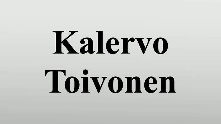 Kalervo Toivonen Kalervo Toivonen YouTube