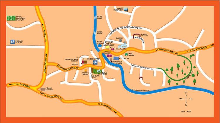 Kalo Chorio, Limassol Map of Kalo chorio Limassol Cyprus