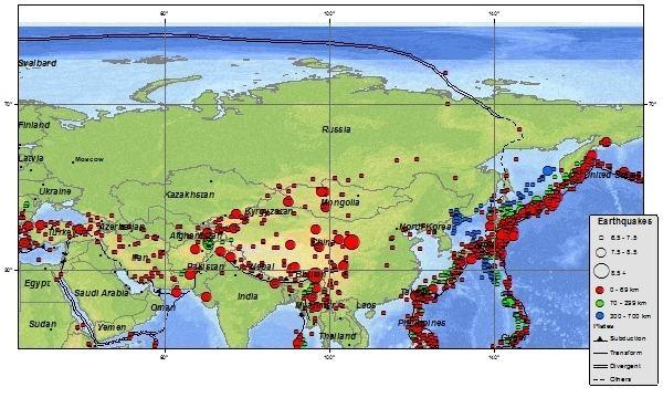 Kamchatka earthquakes