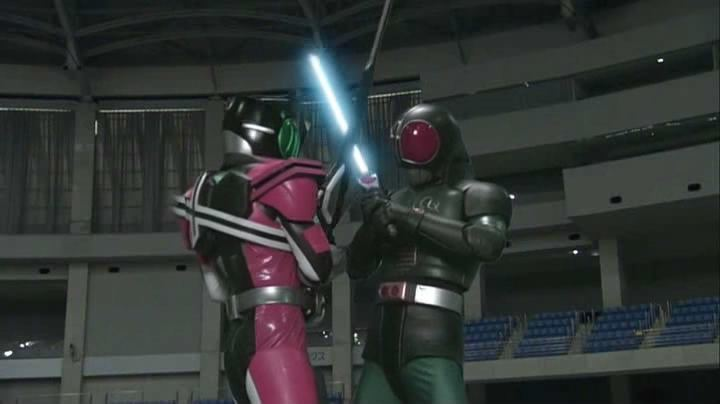 Kamen Rider Decade: All Riders vs. Dai-Shocker movie scenes After the clips of the world merging was seen Tsukasa seems to remember and orders Tsukikage to gather all the Riders