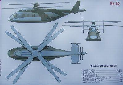Kamov Ka-92 Kamov Ka92 Stingray39s List of Rotorcraft