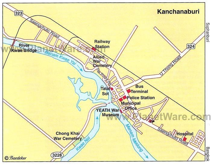 Kanchanaburi Province Tourist places in Kanchanaburi Province