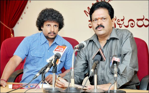 Kanchilda Baale movie scenes Muthappa Rai founder of Jayakarnataka union and Shakunthala Shetty former MLA Puttur are among the players of lead role in the movie