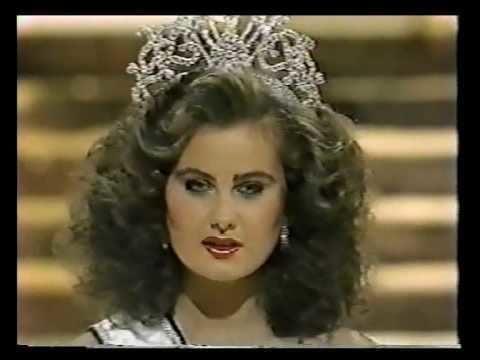Karen Dianne Baldwin Miss Canada 1983 Karen Baldwin final walk Crowning