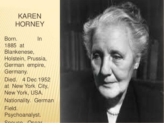 Karen Horney Karen horney personality theory
