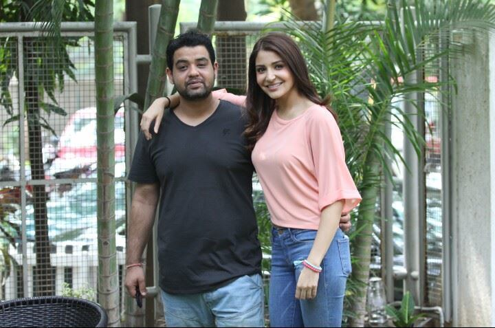 Karnesh Sharma Picture of Anushka Sharma and her brother Karnesh amp a note on their