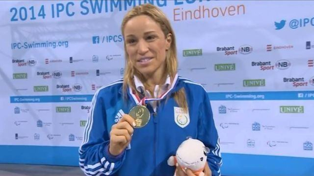 Karolina Pelendritou Karolina Pelendritou wins gold medal in IPC Swimming