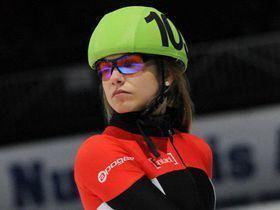 Kasandra Bradette Bradette Hamelin win the 500 metres at selections 2 Speed