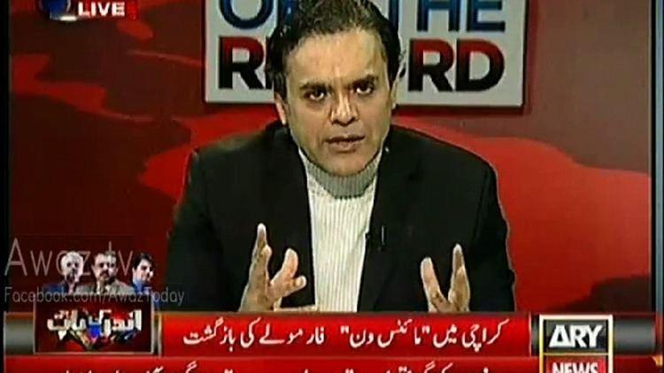 Kashif Abbasi Waseem Akhtar Got Angry on Kashif Abbasi in a Live Show