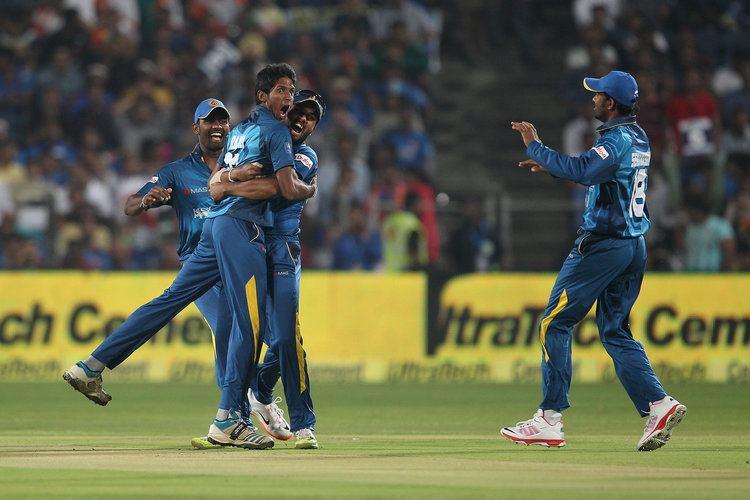 Kasun Rajitha Secondstring Lanka bring down mighty India Rediffcom Cricket
