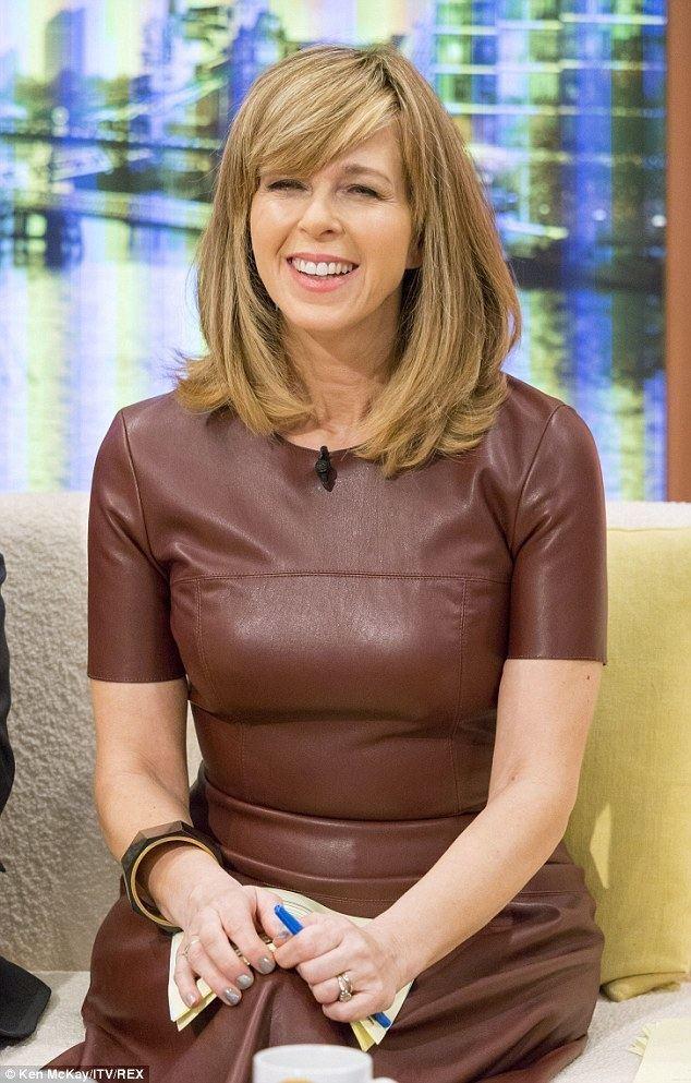 Kate Garraway Kate Garraway wears edgy brown dress to cohost Good