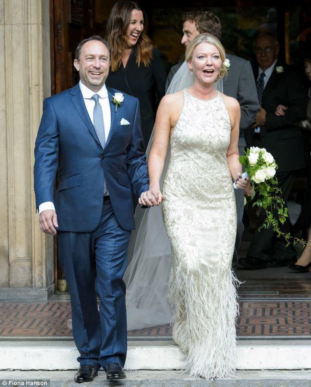 Kate Garvey Wikipedia founder Jimmy Wales marries Tony Blair39s former