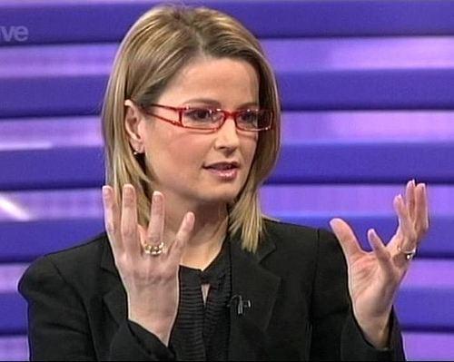 Kate Gerbeau Kate Gerbeau on Channel 5 wearing glasses Flickr Photo