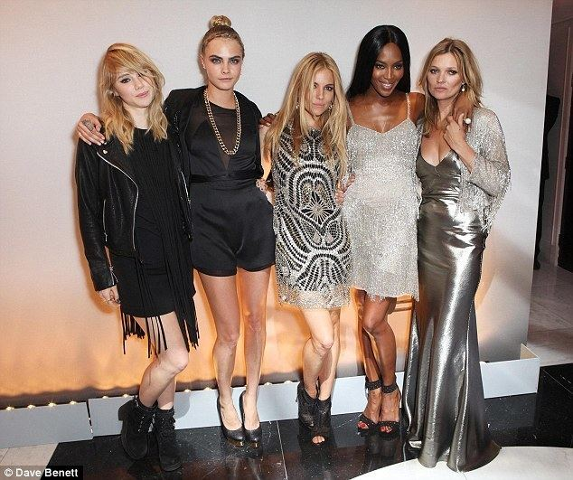 Kate Moss Kate Moss slips joins a model lineup of Suki Cara Sienna and