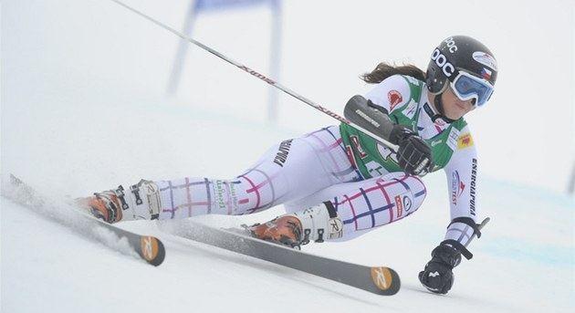 Kateřina Pauláthová Zhrobsk upadla ve slalomu esk titul v superkombinaci m