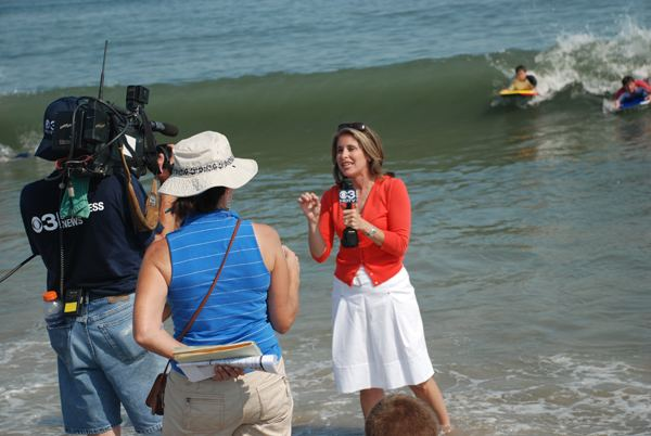 Kathy Orr (meteorologist) Kathy Orr almost wiped out by surfers CapeMaycom Picture of the Day