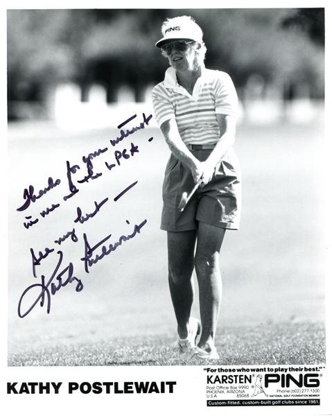 Kathy Postlewait Kathy Postlewait AutographedHand Signed Black White Golf 8x10 Photo