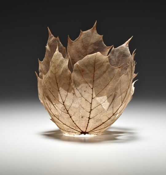 Kay Sekimachi Beautiful Maple Leaf Bowl Sculptures by Kay Sekimachi My