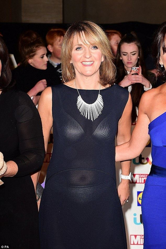 Kaye Adams Loose Women39s Kaye Adams flashes her white bra and