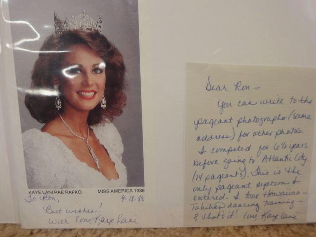 Kaye Lani Rae Rafko Kaye Lani Rae Rafko Miss America Signed Autographed Photo Lithograph