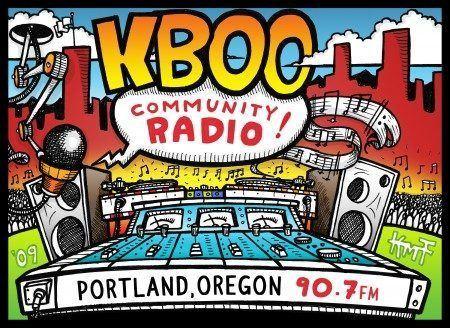 KBOO KMF ILLUSTRATION NEW KBOO Community Radio Artwork The Little