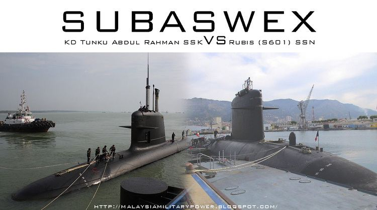 KD Tunku Abdul Rahman SUBASWEX KD Tunku Abdul Rahman SSK VS Rubis S601 SSN MALAYSIA