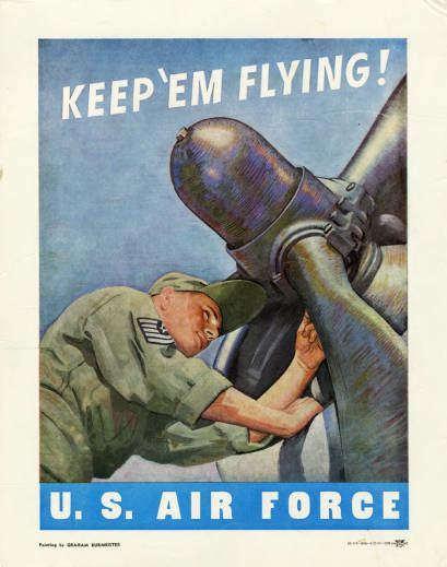 Keep 'Em Flying Military Poster Print Keep em flying US Air Pritzker