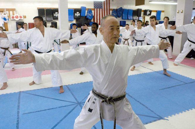Keigo Abe Master Keigo Abe leads the class Legend Karate in Dongan