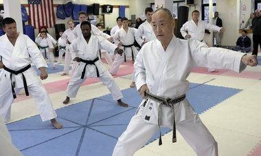 Keigo Abe Legend Karate gets visit from Japanese icon SILivecom