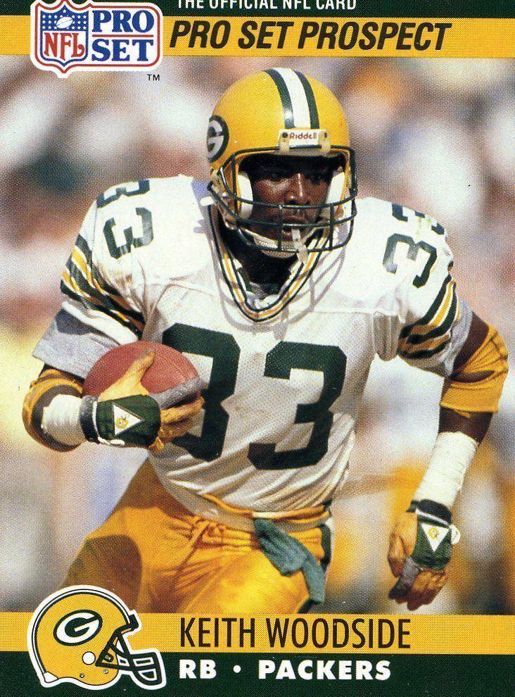 Keith Woodside ROOKIE 1990 NFL PRO SET PROSPECT KEITH WOODSIDE GREEN BAY PACKERS