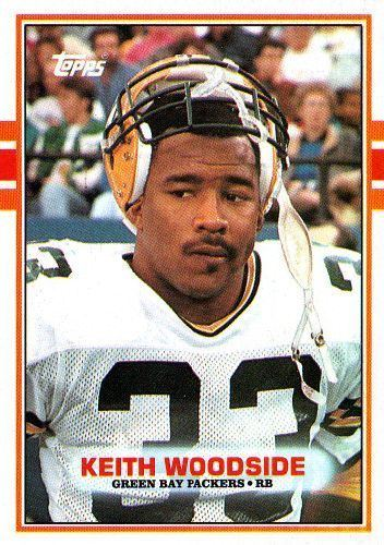 Keith Woodside GREEN BAY PACKERS Keith Woodside 375 Rookie Card TOPPS 1989 NFL