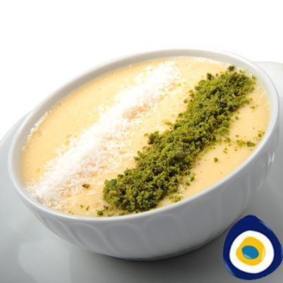Keşkül Kekl is an almond based milk pudding usually served in a bowl