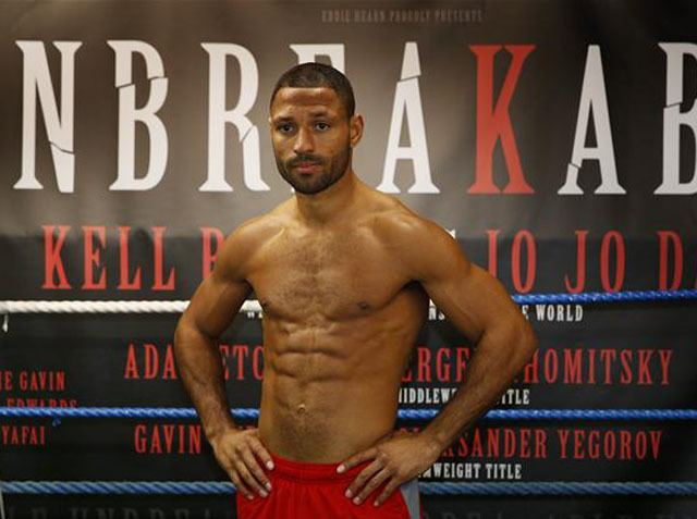 Kell Brook Kell Brook sweeps in under the weight limit for his first