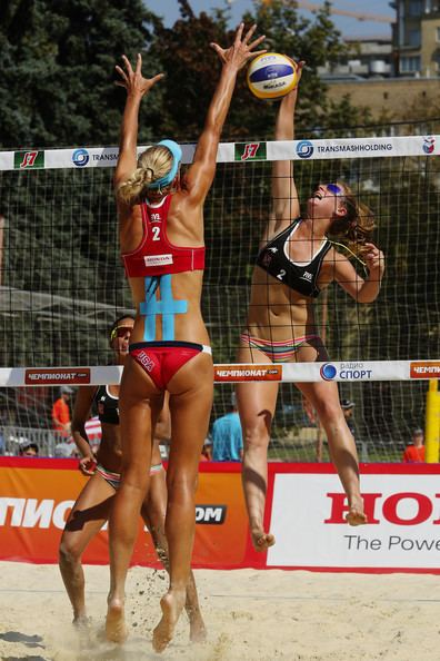 Kelly Schumacher Kelly Schumacher Pictures FIVB Moscow Grand Slam Day 1