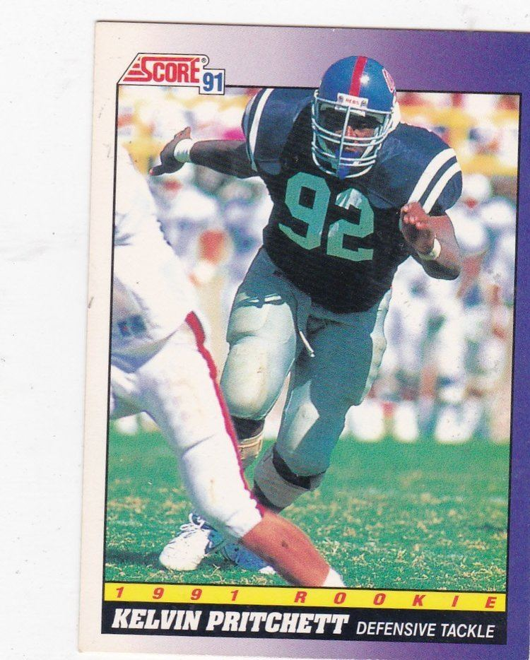 Kelvin Pritchett Amazoncom Kelvin Pritchett 1991 Score NFL Rookie Card 599
