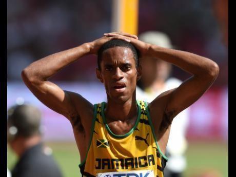 Kemoy Campbell Jamaicas Kemoy Campbell tumbles in 5000m but rises to finish 15th
