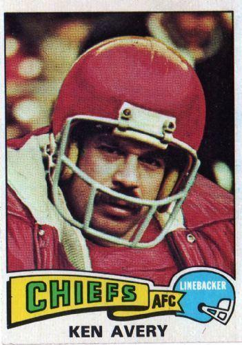 Ken Avery KANSAS CITY CHIEFS Ken Avery 306 TOPPS 1975 NFL American Football