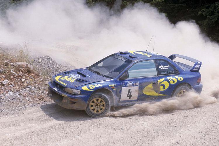 Kenneth Eriksson Fotos Historicas Subaru en el Campeonato mundial de Rally