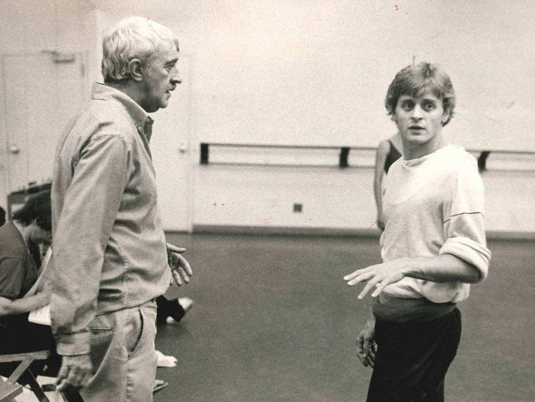 Kenneth MacMillan Kenneth MacMillan in rehearsal with dancer Mikhail Baryshnikov ABC