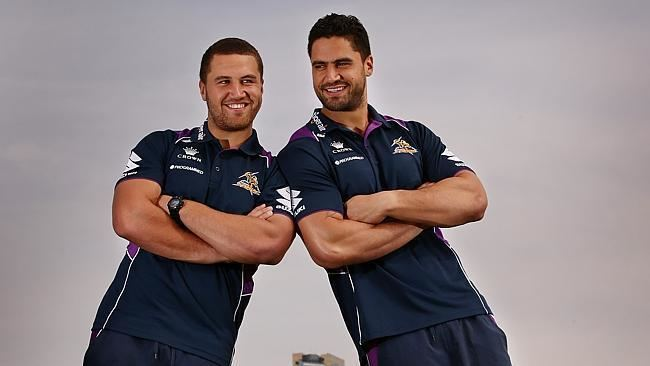 Kenny Bromwich Brothers Jesse and Kenny Bromwich loving life at Melbourne