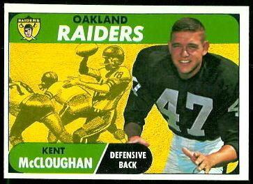 Kent McCloughan wwwfootballcardgallerycom1968Topps12KentMcC
