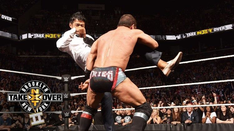 Hideo Itami Hideo Itami hits Austin Aries with the GTS NXT TakeOver Brooklyn