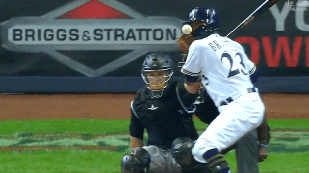 Keon Broxton Brewers outfielder Keon Broxton leaves game after getting hit in the