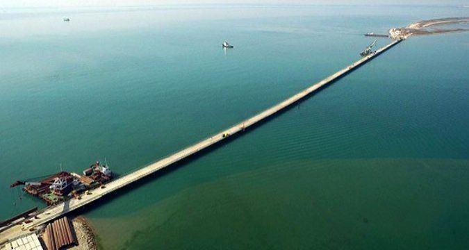 Kerch Strait Bridge Temporary bridge built across Kerch Strait Crimean News Agency