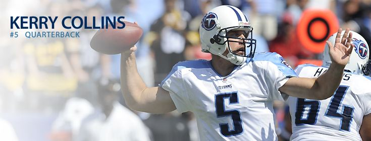 Kerry Collins Tennessee Titans Kerry Collins
