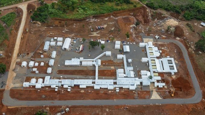 Kerry Town Britishfunded Ebola treatment centre opens in Sierra Leone ITV News