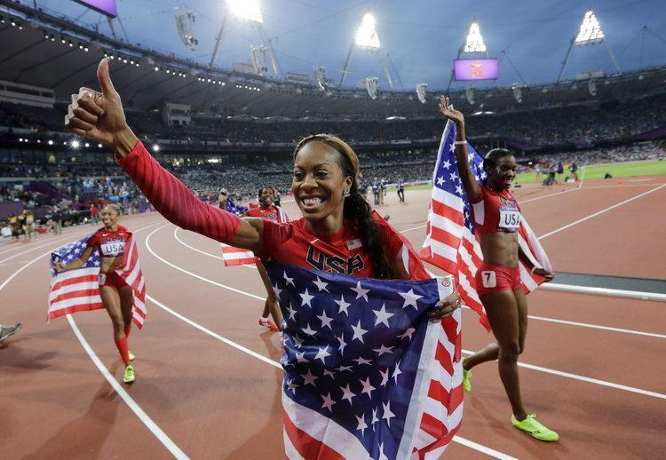 Keshia Baker US wins women39s 4x400 relay giving Oregon39s Keshia