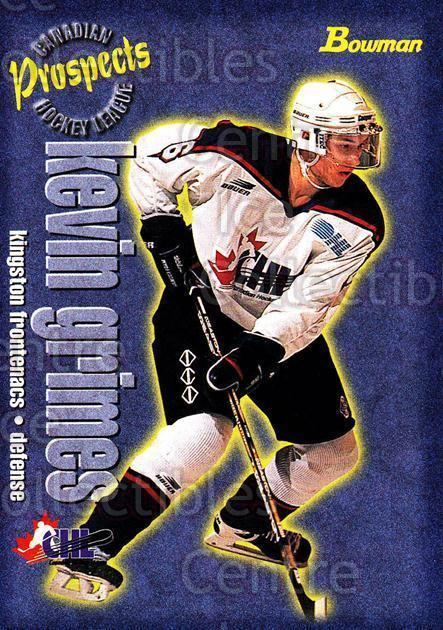 Kevin Grimes (ice hockey) Center Ice Collectibles Kevin Grimes Hockey Cards
