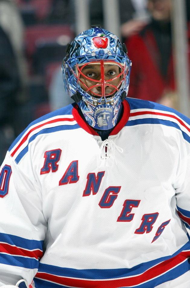 Kevin Weekes Kevin Weekes Game Used Mask NY Rangers